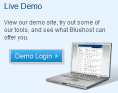 Bluehost demo login