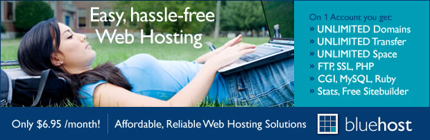 Discover Bluehost web site hosting services