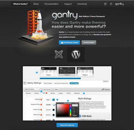 Gantry WordPress theme framework