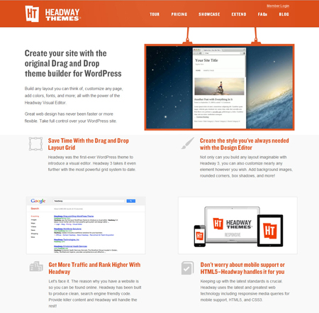 Headway WordPress theme frameworks