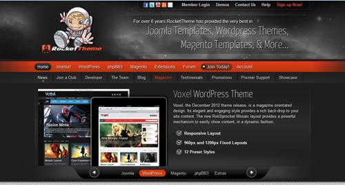 Premium WordPress Themes Providers - RocketTeam Review
