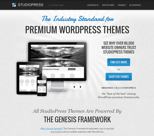 Premium WordPress Themes Providers - StudioPress Review