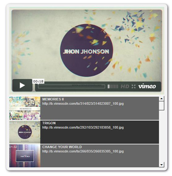 Vimeo SEO User Playlist