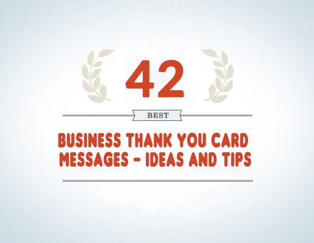 42 Best Business Thank You Card Messages Samples Tips And